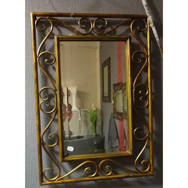 Spiegel Formano ornamentierter Rahmen Antikmessing