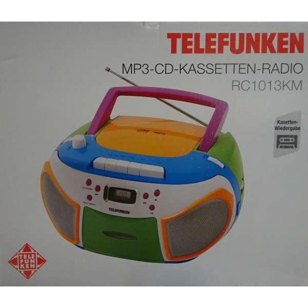 Telefunken RC1013KM CD-Radio MP3, Kassetten-Radio, Neu vom Fachhandel