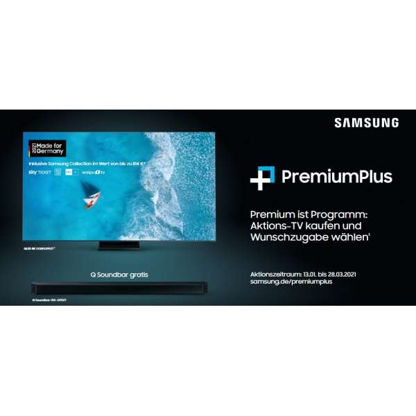 Samsung GQ85Q80TGTXZG QLED-TV 4K UHD, -350€ Cashback Aktion oder Soundbar Gratis