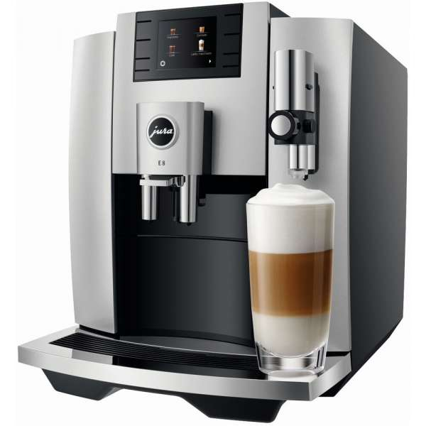 Jura E8 Kaffeevollautomat, Moonlight Silver, Neu vom Fachhändler