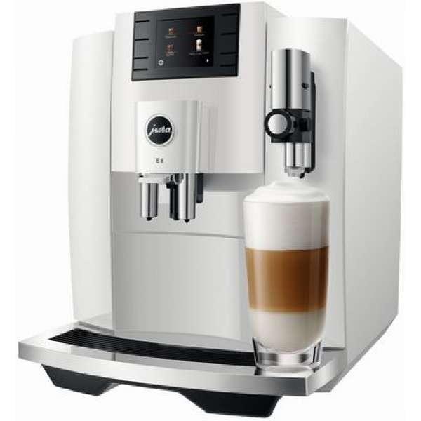 Jura E8 Kaffeevollautomat Piano White, Neu vom Fachhändler
