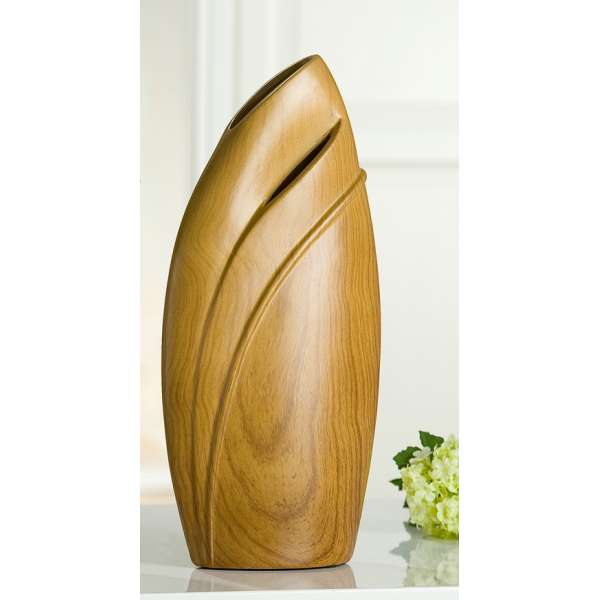Gilde Keramik Vase in edelem Holzlook