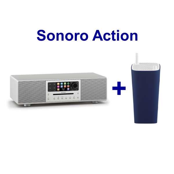 Sonoro MEISTERSTÜCK (silber) inkl. Sonoro Go London blau !!