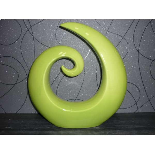 """Casablanca Skupltur""""Creek"""" Keramik,grün 29cmx27cmx5cm"""
