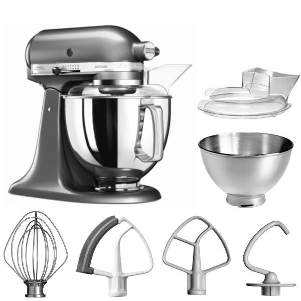 Kitchen Aid Artisan 5 KSM175PSEMS im Set