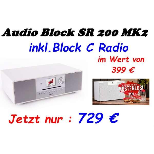 Audio Block SR 200 MK II Internetradio weiß, Neu & Original vom Fachhandel