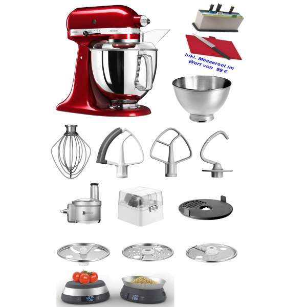 Kitchen Aid Artisan 5 KSM175PSECA im Set