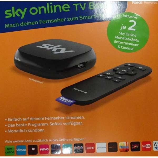 Sky TV-Box inklusive je 2 Monate die besten Serien und Kinofilme neu und original vom Fachhandel