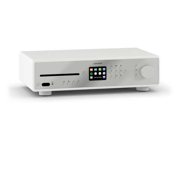 Sonoro Maestro Musiksystem weiß DAB+ Hifi Receiver Stereo CD BT