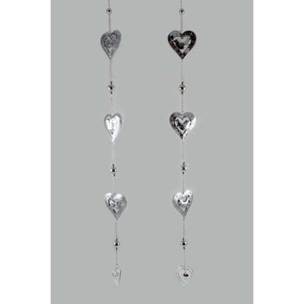 Goldbach Metallkette mit Herzen und Hänger