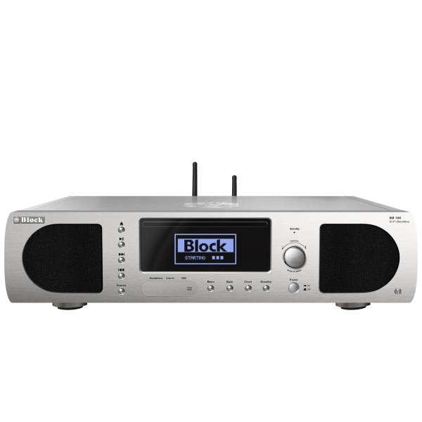 AudioBlock BB-100 CD-Internet-Boombox - Diamantsilber