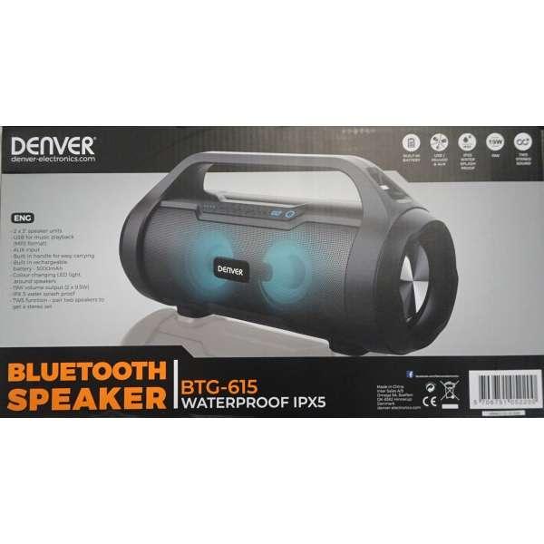 Denver Bluetooth Lautsprecher BTG-615 waterproof IPX5 Neu vom Fachhändler