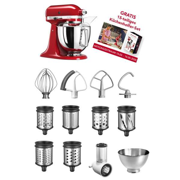 Kitchen Aid Artisan 5 KSM175PSEER im Set