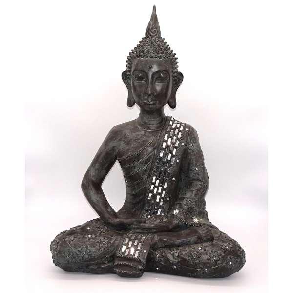 Formano Buddha Meditation mit Spiegelintarsien