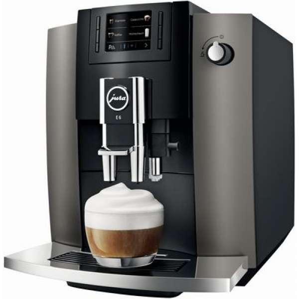 Jura E6 Kaffeevollautomat Dark Inox, Neu vom Fachhändler