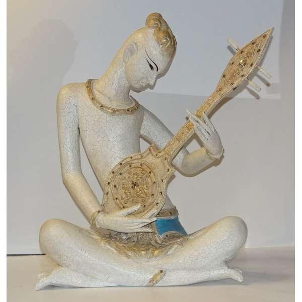 Formano Skulptur Sitarspieler aus Resin Stone