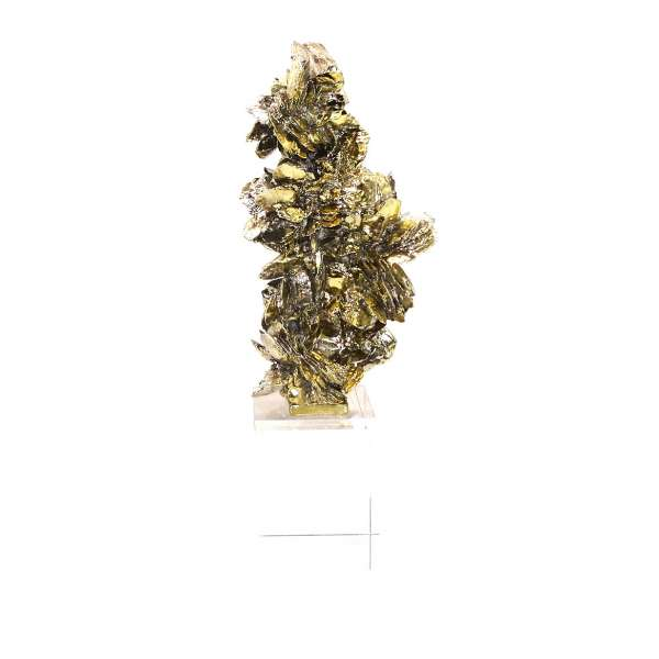 Goldene Skulptur auf Glassockel