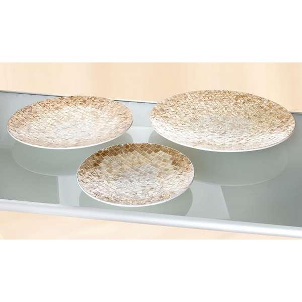 """Schale """"Scintilla"""" mit Capice natur-gold, mit Mosaik (Ab. rechts)"""