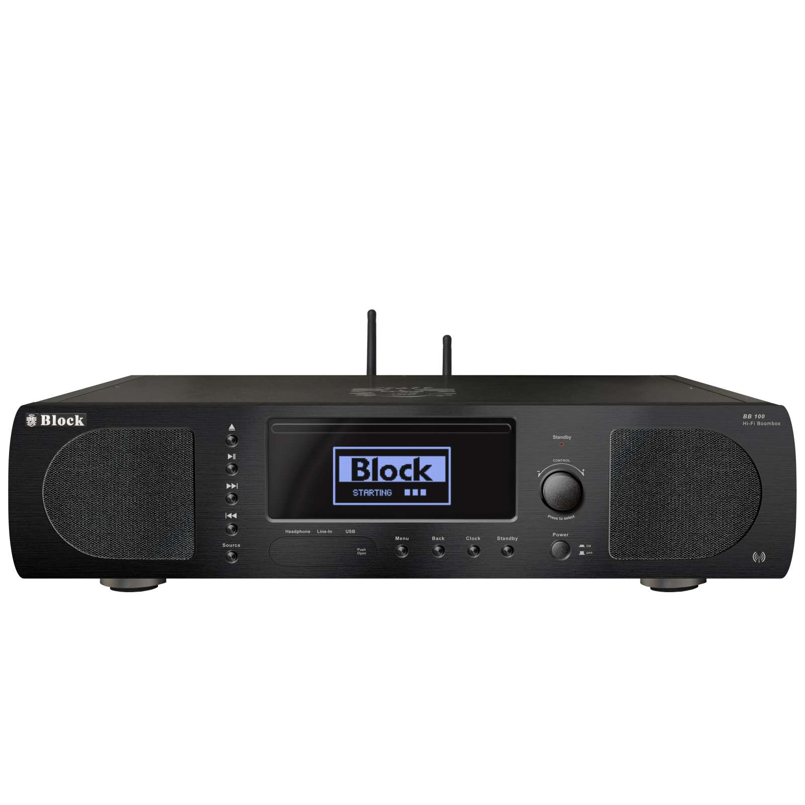 Audio Block BB 100 CD Internet Boombox schwarz