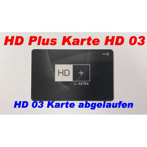 HD Plus Karte HD03 leer und abgelaufen