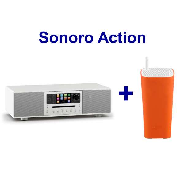Sonoro MEISTERSTÜCK (weiß)inkl Sonoro Go London orange !!