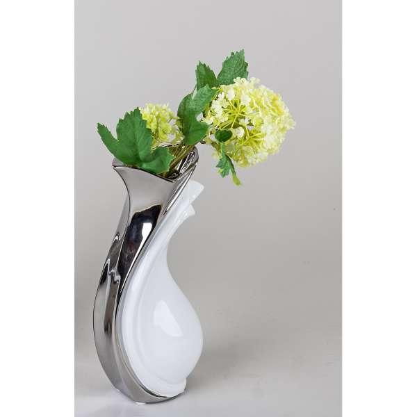 Formano Vase weiss-silber 23 cm