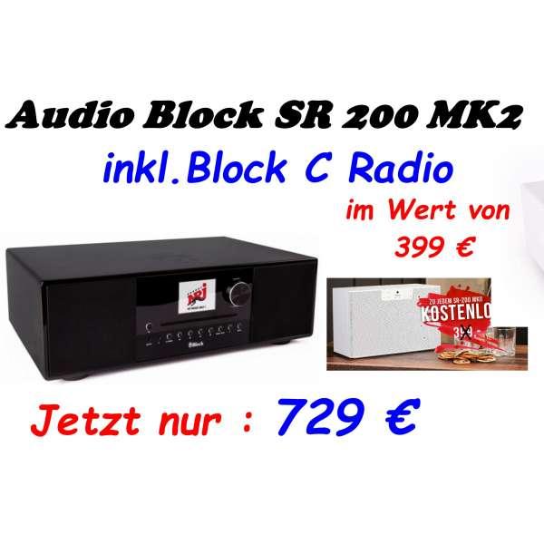 Audio Block SR 200 MK II Internetradio schwarz, Neu & Original vom Fachhandel