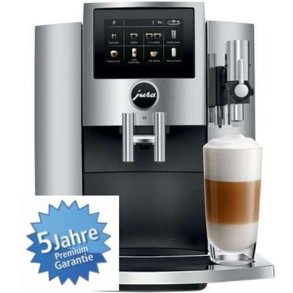Jura S8 Kaffeevollautomat 15380 chrom, Neu vom Fachhändler Vorführgerät