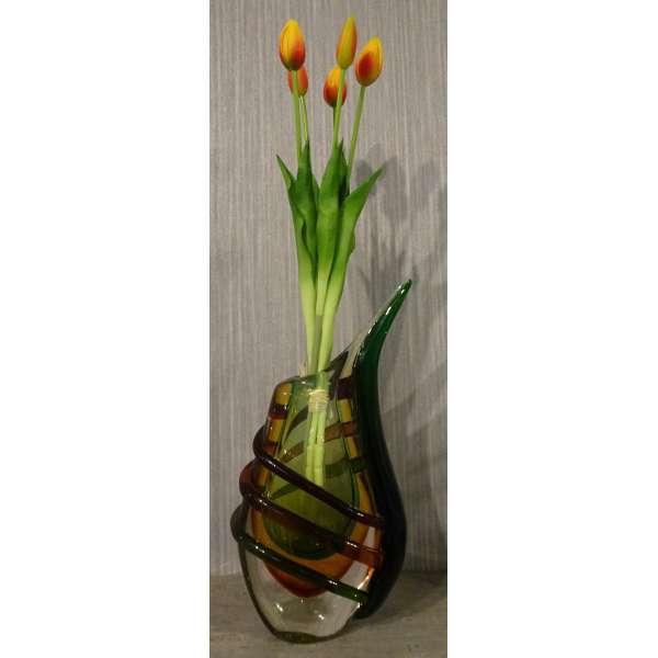 Gilde Deko Vase aus farbigem Bleikristall