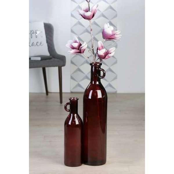 """Flaschenvase """"Facil"""" Glas. Aus 100% recyceltem Glas -europäische Handarbeit -"""