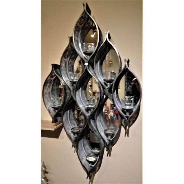 Cor Mulder Spiegelornament mit Teelichthalter groß