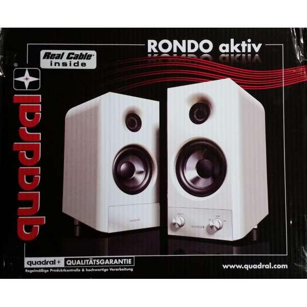 Quadral Rondo aktiv weiss Lautsprecher Set aktiv Bluetooth aptx